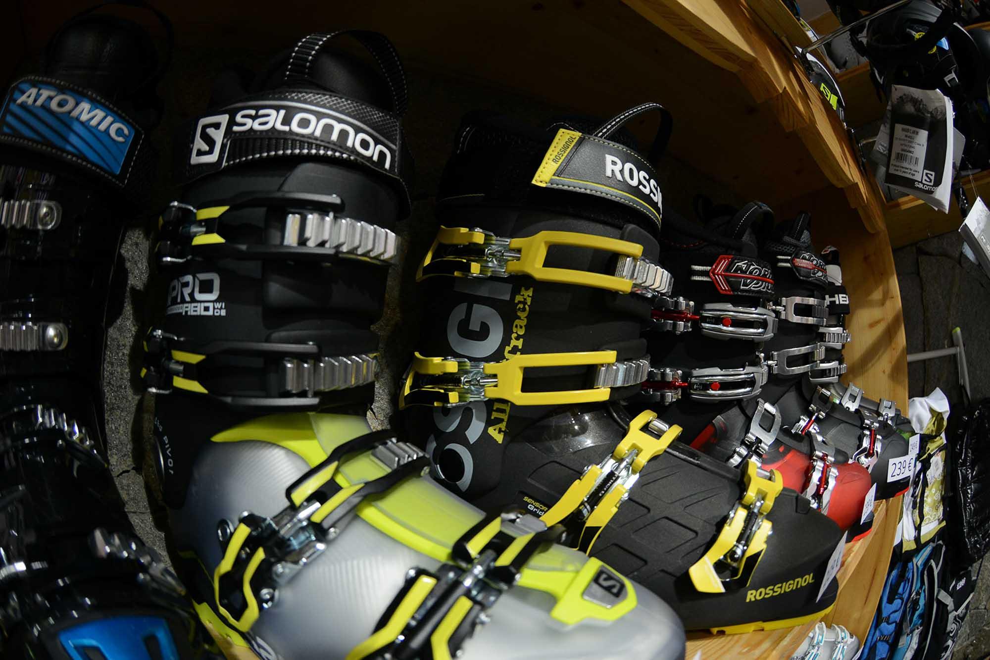 chaussure de location de ski Salomon
