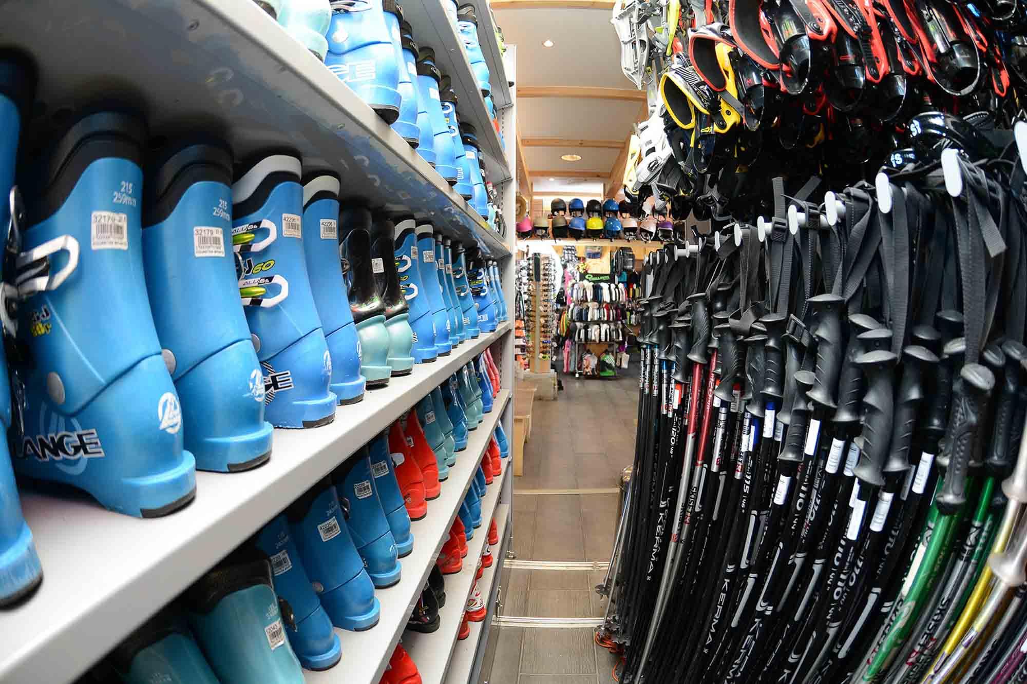 rayon chaussure de skis de location