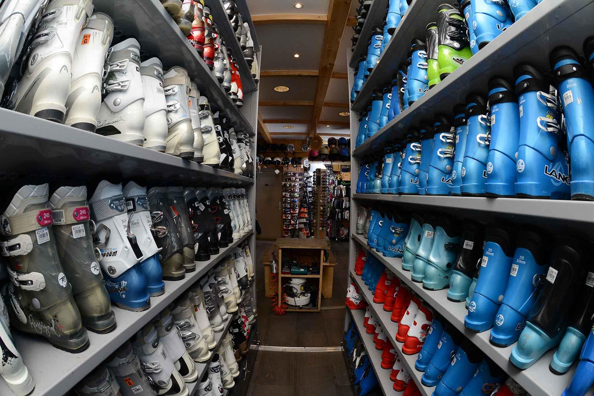 chaussures de location de ski